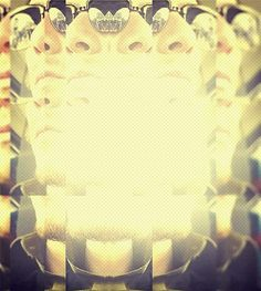"""""""Many faces of me"""" edit of myself using Glitch, Decim8 and Fotor."""