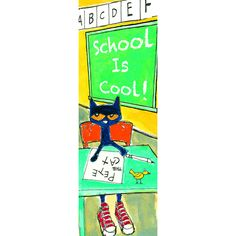 Show students School Is Cool with Pete the Cat! Bookmarks make perfect incentives and rewards. Set of 36 2 x 6 bookmarks.