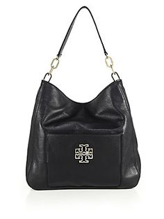 Tory Burch Britten Leather Hobo Bag