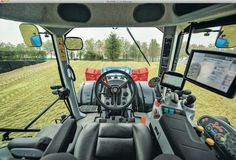 New Holland T8 in cab view
