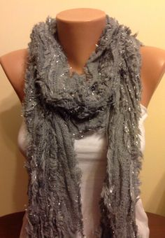 A personal favorite from my Etsy shop https://www.etsy.com/listing/180040560/on-salegrey-knitted-scarffringed-scarf