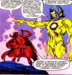 Apocalypse vs Thanos | ... Mephisto and the Living Tribunal