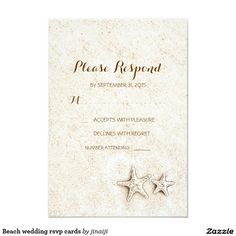 Beach wedding rsvp cards
