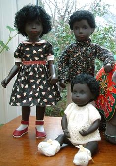 Sasha  dolls: Cora, Caleb and baby.  I always wanted these ones.  Sashas in general just have such beautiful, serene faces.