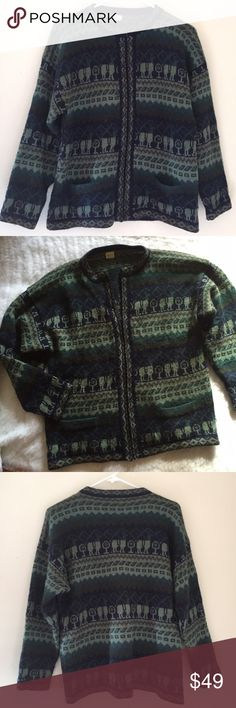100% alpaca wool Vtg large cardigan sweater Beautiful!! Pics don't do any justice high quality too Vintage Sweaters Cardigans