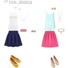 """1ºlook Jéssica"" by flaviadebom on Polyvore"