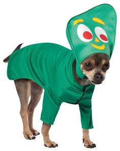 Don't ever call this tail chaser Pokey. He's Gumby! They'll be green with envy when they see your pet dressed in the Gumby Pet Dog Costume. Polyester fiber pet costume Comfortable fit Hilarious costum