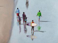 Alex Marmarellis: Saturday At The 'Berg: fine art | StateoftheART White Shadow Box, Shadow Box Frames, Original Artwork, Blues, Africa, Fine Art, Canvas, Gallery, Artist