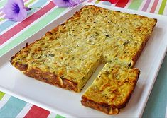 Veggie Recipes, Lunch Recipes, Vegetarian Recipes, Cooking Recipes, Healthy Recipes, Quiches, Tapas, Zucchini, Savory Tart
