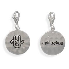 Reversible Zodiac Charm with Lobster Clasp - Ophiuchus