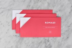 Visual identity for spa Roma 23 designed by Firmalt.