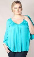 Felicity Poncho #plussize Top - $29.99