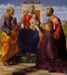 Giovanni Bellini, Virgin and Child with Saint Peter, Saint Mark and a Donor In the Age of Giorgione | Exhibition | Royal Academy of Arts