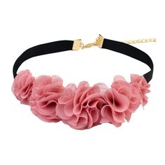 Flower Choker Disheefashion ($7.99) ❤ liked on Polyvore featuring jewelry, necklaces, flower choker necklace, choker necklace, blossom jewelry, blossom necklace and flower jewelry