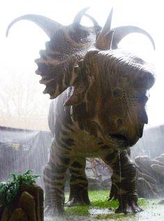 Dinosauri sotto la pioggia