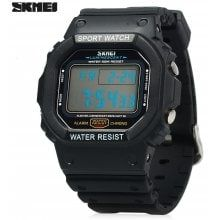 e1a371822 Skmei 1134 Sports Male 5ATM Water Resistant Digital Wristwatch with PU  Strap. Digital Wrist WatchLed WatchAthletic FashionSport ...