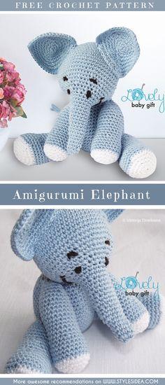 Elephant Amigurumi Gift Free Crochet Pattern | #freecrochetPatterns #amigurumiowl #freepoattern