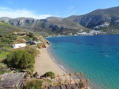 Aegiali,Amorgos as seen from  Levrossos.