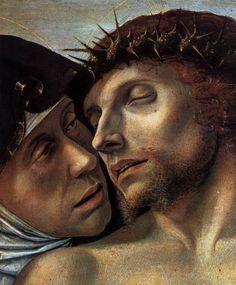 Giovanni Bellini - Pieta. Detail.1460