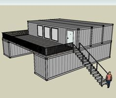 long term shipping container support - Google Search