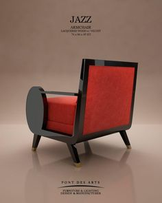 Jazz Armchair - Pont des Arts Studio - Designer Monzer Hammoud - Paris - Design Furniture, Art Furniture, Chair Bench, Art Design, Architecture Design, Armchair, Art Deco, Woodworking, House Design