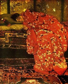 Girl in Red Kimono:  George Hendrik Breitner, 1893.