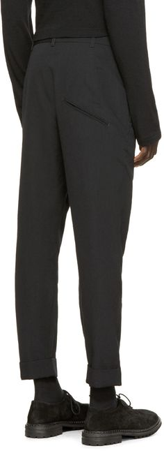 Song for the Mute Black High-Waisted Trousers