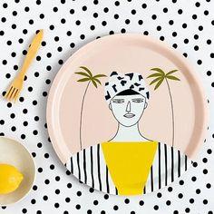 #Tray #Melamine #Girl #Palms #Summer from www.kidsdinge.com                    https://www.instagram.com/kidsdinge/ https://www.facebook.com/kidsdinge/ #kidsdinge