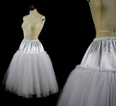 Soft Tulle 1950s Style Petticoat Skirt Slip - Made to Measure FREE SHIPPING WORLDWIDE