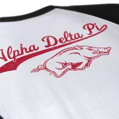 Alpha Delta Pi - ADPi - Baseball Design - Sorority Tank - Sorority t shirts - Check out b-unlimited.com!