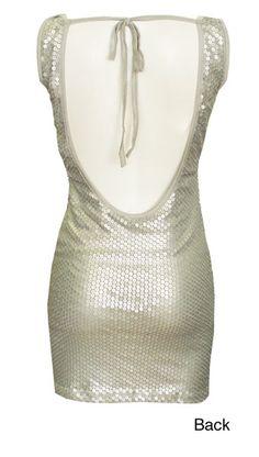 Backless dress.