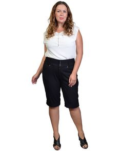 Plus Size Mid-waist Trousers-id.29991a