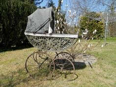 Traumhafter antiker Kinderwagen große Räder Porzellangriff toll in Rheinland-Pfalz - Winnen   Kunst und Antiquitäten gebraucht kaufen   eBay Kleinanzeigen