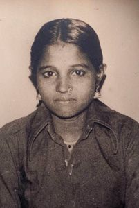 Amma as a young girl