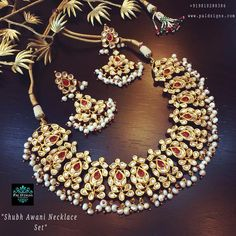 Shubh Awani Necklace Set (Kundan)
