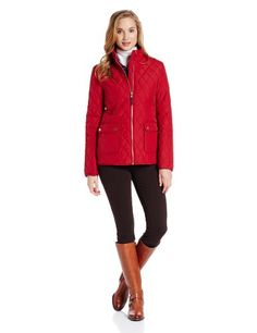 Tommy Hilfiger Women`s Two Pocketzip Front Quilt Jacket - Listing price: $160.00 Now: $108.00