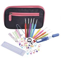 $14.99- Ergonomic Crochet Hook Set and Complete Accessories Set With Organizer Case 44Pcs - Free Shipping Worldwide