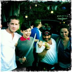 The ONCE UPON A TIME cast at Disneyland :)