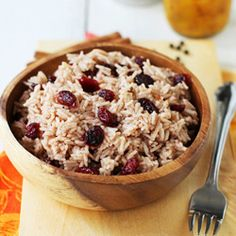 Cranberry Cinnamon Basmati Rice. This would be so good for Thanksgiving!