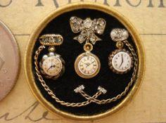 Dollhouse miniatures original vintage handmade Miniature 1:12 scale elegant pin/pocket watches on Etsy,