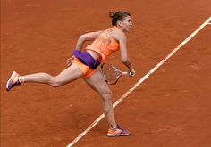 Simona Halep at the French Open Simona Halep, French Open, Tennis Players, Ballet Dancers, Sport Girl, Athletic, Running, Game, Hot