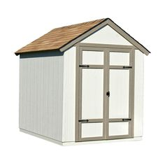 Handy Home Products Sherwood 6 ft. x 8 ft. Wood Shed Kit with Floor Frame-18360-7 - The Home Depot