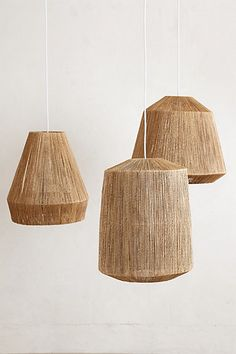 Bungalow pendant series from anthropologie, lovely jute texture