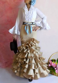 BEIGE-CELESTE Fishtail, Steampunk Fashion, Ideias Fashion, Ruffle Blouse, Glamour, Costumes, Boho, Sewing, Outfits