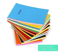 dual color notepads! Yes, please.