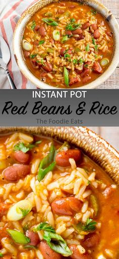 Instant Pot Red Beans and Rice - This is a quick and easy recipe, but don't let . - Instant Pot Red Beans and Rice – This is a quick and easy recipe, but don't let that deter you - Instant Pot Pressure Cooker, Pressure Cooker Recipes, Slow Cooker, Pressure Cooking, Healthy Meals For Kids, Quick Easy Meals, Healthy Recipes, Quick And Easy Recipes, Cheap Recipes