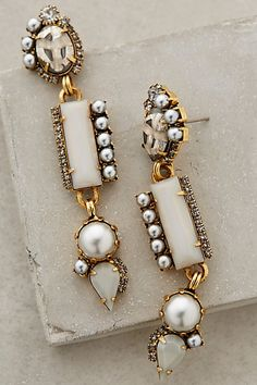 Unique yet awesome earrings! Pearled Candrima Drops #anthrofave