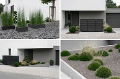 Leave some small land for a minimalist garden in front of your house. Give unique and attractive plants so that your minimalist garden still looks beautiful. Front Yard Garden Design, Front Garden Landscape, Yard Design, Front Yard Landscaping, Landscape Design, Landscaping Ideas, Garden Blocks, Minimalist Garden, Small Space Gardening