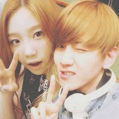 Fan-made images with EXO's Baekhyun and Girls' Generation's Taeyeon interacting as a couple in public. Generation Photo, Girls Generation, Kpop Couples, Cute Couples, Baekhyun, Exo, Kim Tae Yeon, Someone Like You, Snsd