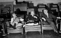 Garson Kanin, Carole Lombard and Charles Laughton on the set of They Knew What They Wanted
